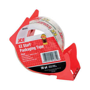 Ace  1.88 in. W x 30 yd. L Clear  Packaging Tape