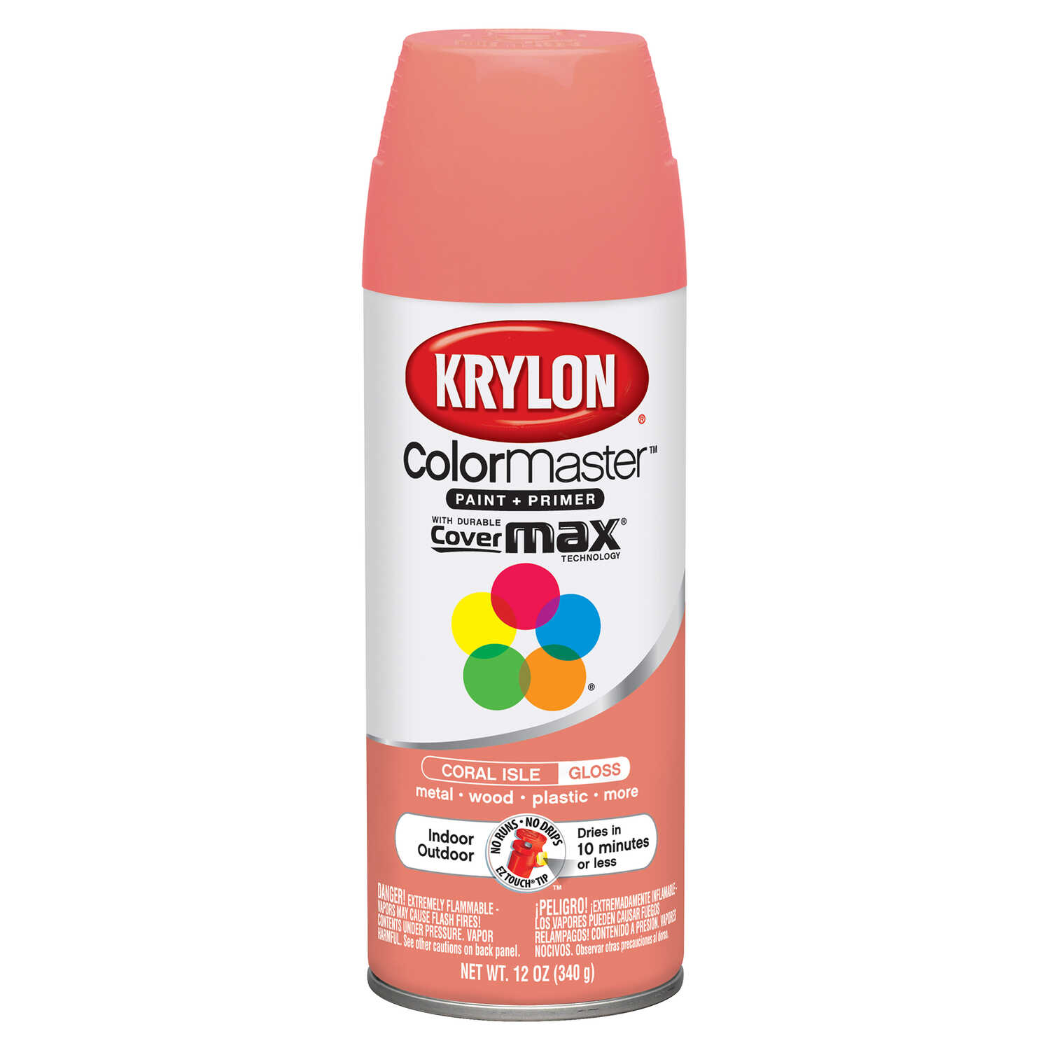 Krylon  ColorMaster  Gloss  Coral Isle  Spray Paint  12 oz.