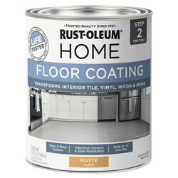 Rust-Oleum  Home  Matte  Clear  Water-Based  Floor Paint  1 qt.