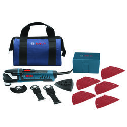 Bosch  Starlock  4 amps 120 volt Corded  Oscillating Multi-Tool  Kit 20 opm Blue  1 pc.
