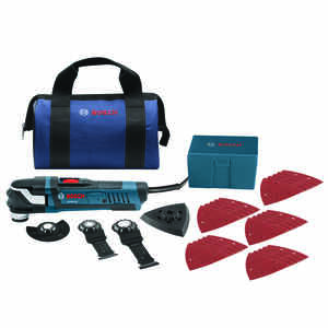 Bosch  Starlock  4 amps 120 volt Oscillating Multi-Tool  Corded  20 opm Blue  1 pc. Kit