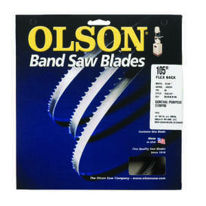 Olson  0.3 in. W x 0.03 in.  x 105  L Carbon Steel  Band Saw Blade  6 TPI Skip  1 pk