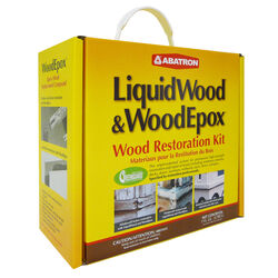 Abatron LiquidWood and WoodEpox Wood Restoration Kit 4 qt.