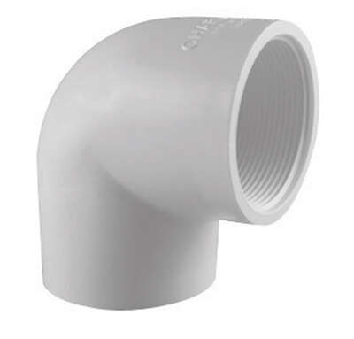 Charlotte Pipe  Schedule 40  1 in. Slip   x 1 in. Dia. FPT  PVC  90 Degree Elbow