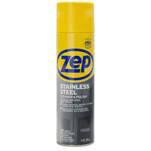 Zep  No Scent Stainless Steel Polish  14 oz. Spray