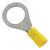 Ace  Ring Terminal  Yellow  5 pk