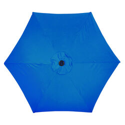 Living Accents Solar LED 9 ft. Tiltable Royal Blue Market Umbrella