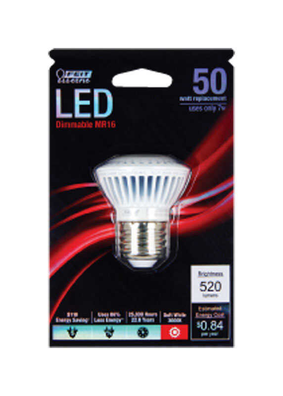 FEIT Electric  7 watts MR16  LED Bulb  520 lumens Soft White  Reflector  50 Watt Equivalence