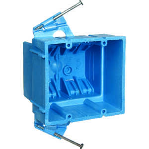 Carlon  Super Blue  3-7/8 in. Thermoplastic  2 gang Rectangle  Blue  Outlet Box  2 Gang