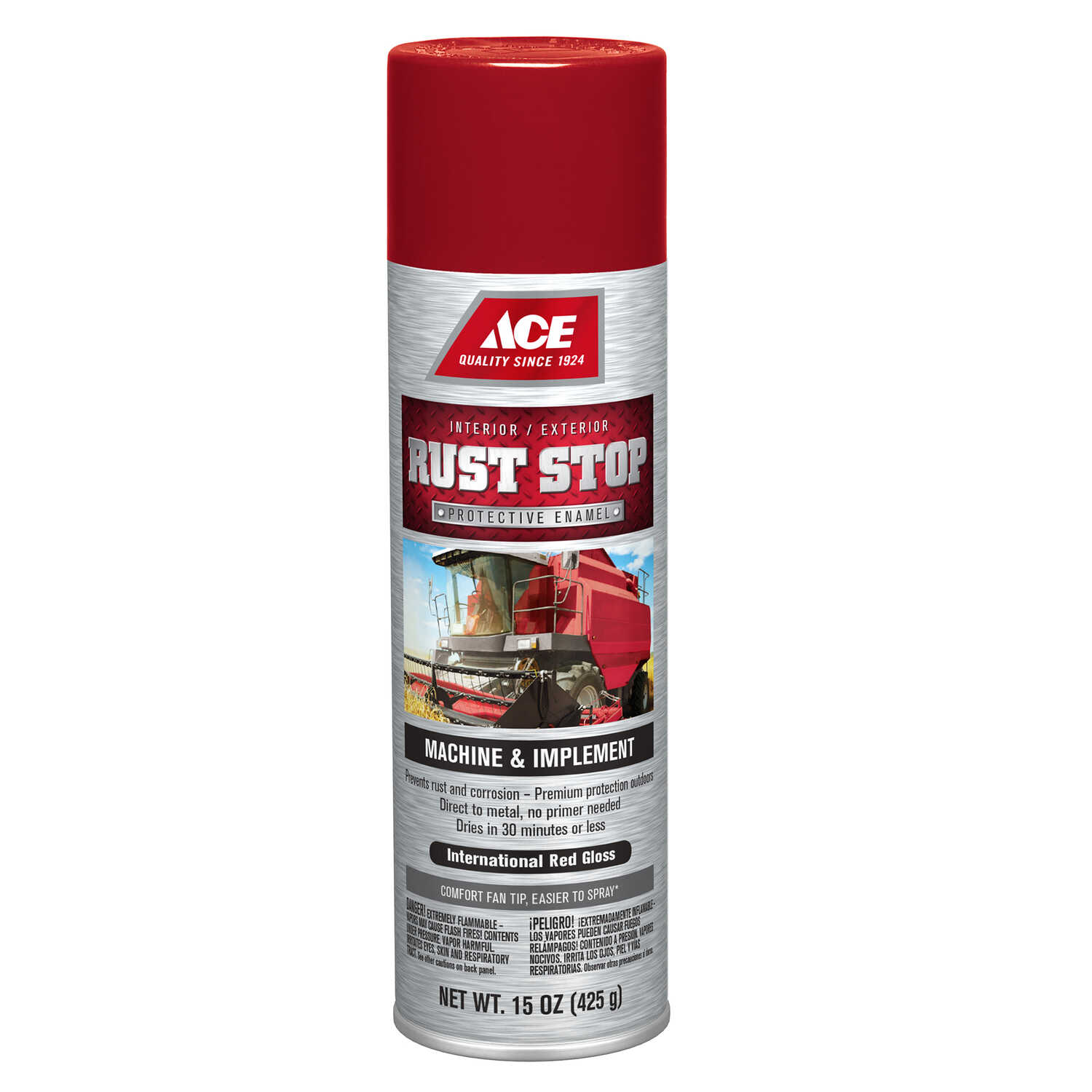 Ace  Rust Stop  Gloss  International Red  Protective Enamel Spray  15 oz.