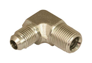 Apache  Steel  3/8 in. Dia. x 3/8 in. Dia. Hydraulic Adapter  1