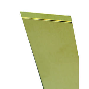 K&S  0.016 in.  x 1 in. W x 12 in. L Brass  Metal Strip