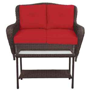 Living Accents  2  Brown  Steel  Cedarbrook  Loveseat  Red