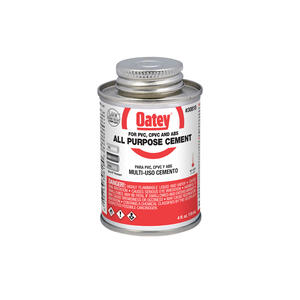 Oatey  Clear  All-Purpose Cement  For CPVC/PVC 4 oz.