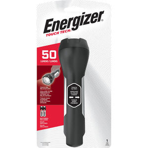 Energizer  TOUCH TECH  50 lumens Black  LED  Flashlight  AA Battery