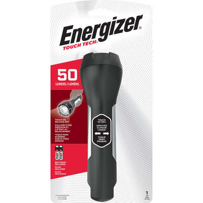 Energizer  50 lumens Black  LED  Flashlight  AA Battery