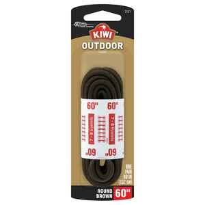 Kiwi  Outdoor  60 in. Brown  Boot Laces