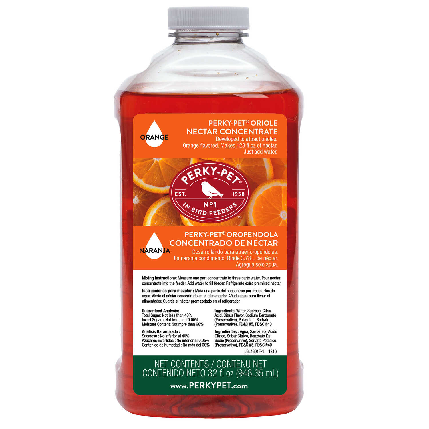 Perky-Pet  Oriole  Nectar Concentrate  Sucrose  32 oz.