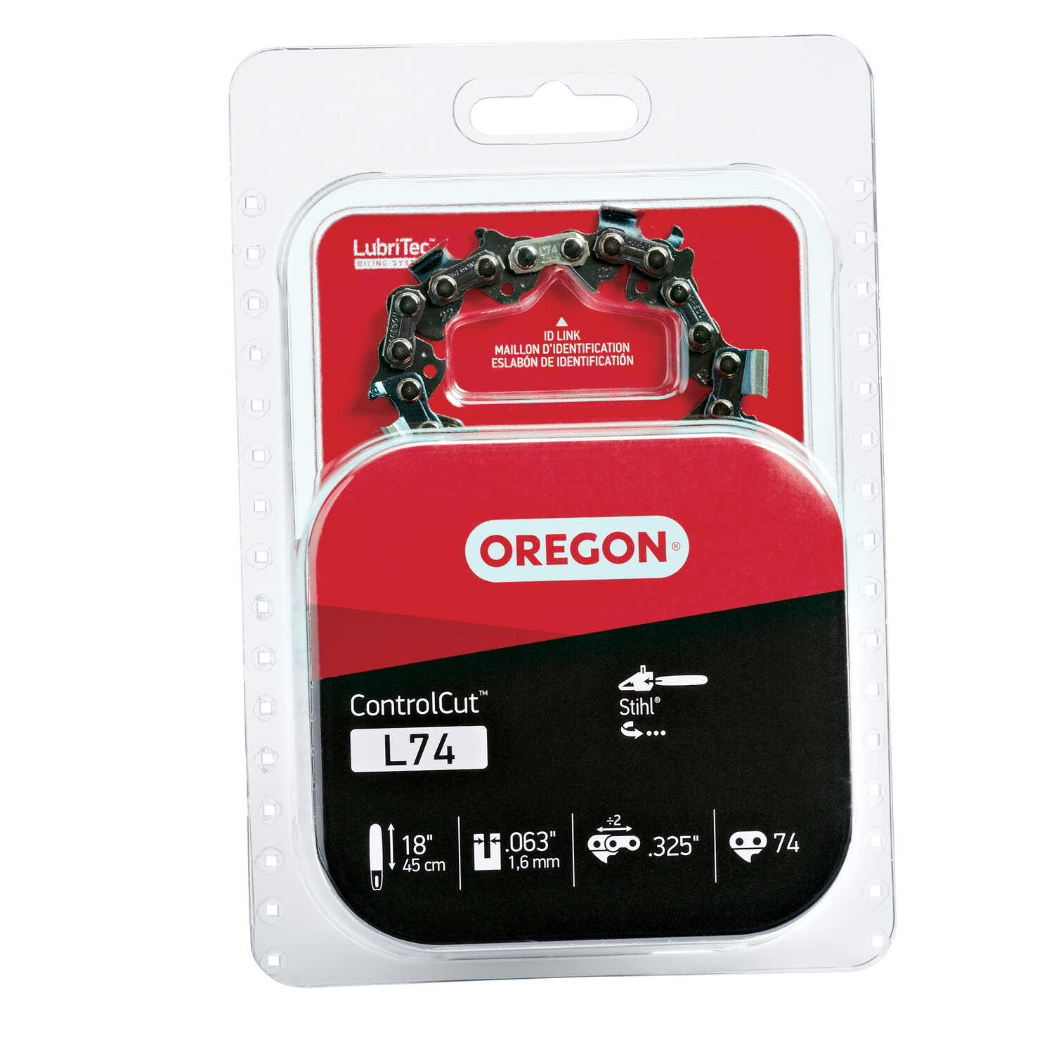 Oregon  Control Cut  18 in. 74 links Chainsaw Chain