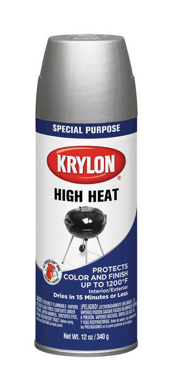 Krylon  Aluminum  High Heat Spray Paint  12 oz.