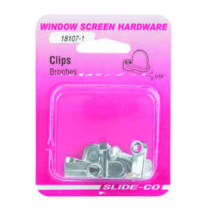 Slide-Co  Zinc  Steel  Mill  For 1/8 12 pk Screen Clip