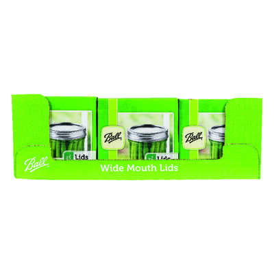 Ball  Wide Mouth  Canning Lid  12 pk