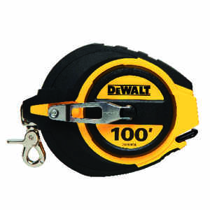 DeWalt  100 ft. L x 0.38 in. W Closed Case Long Tape Measure  Black/Yellow  1 pk