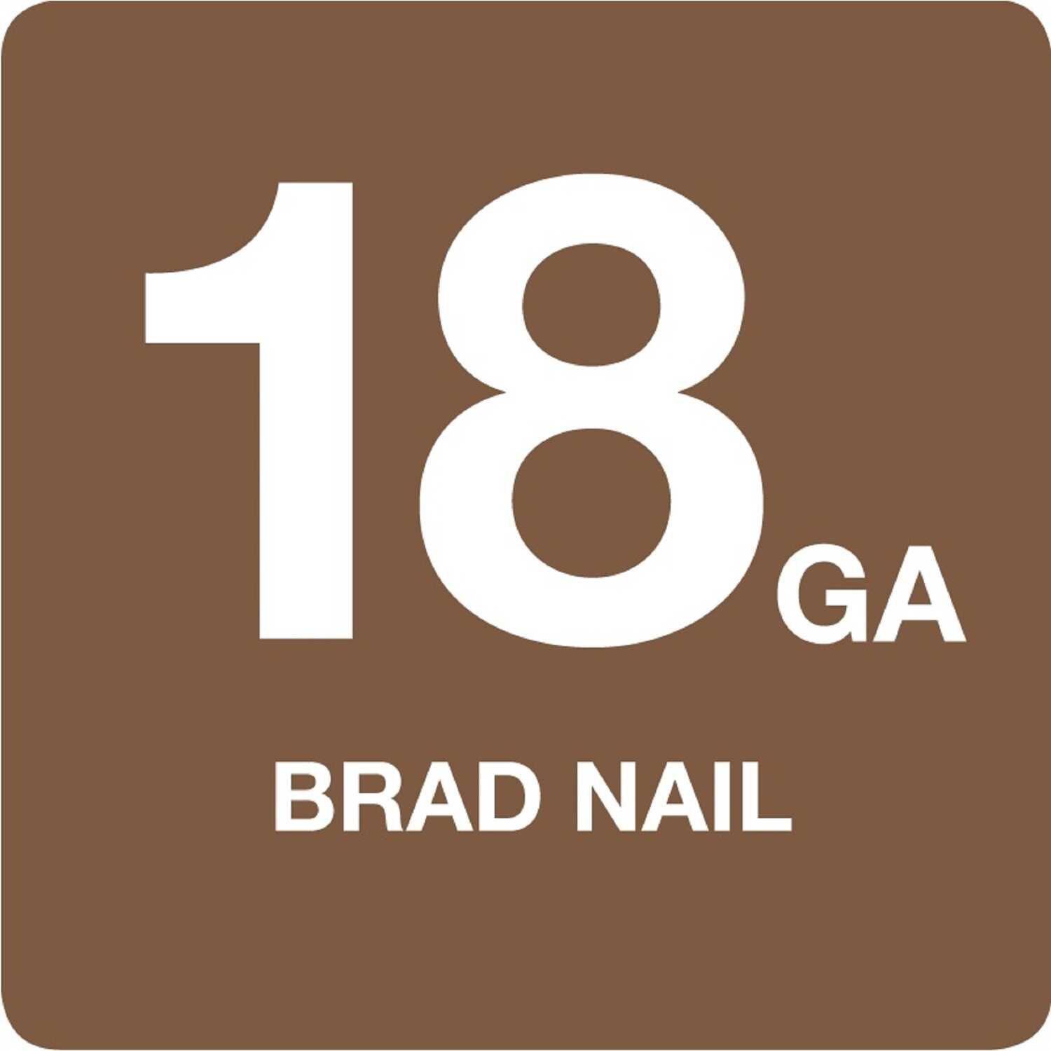 Grip-Rite  2 in. 18 Ga. Straight Strip  Brad Nails  Smooth Shank  1 pk