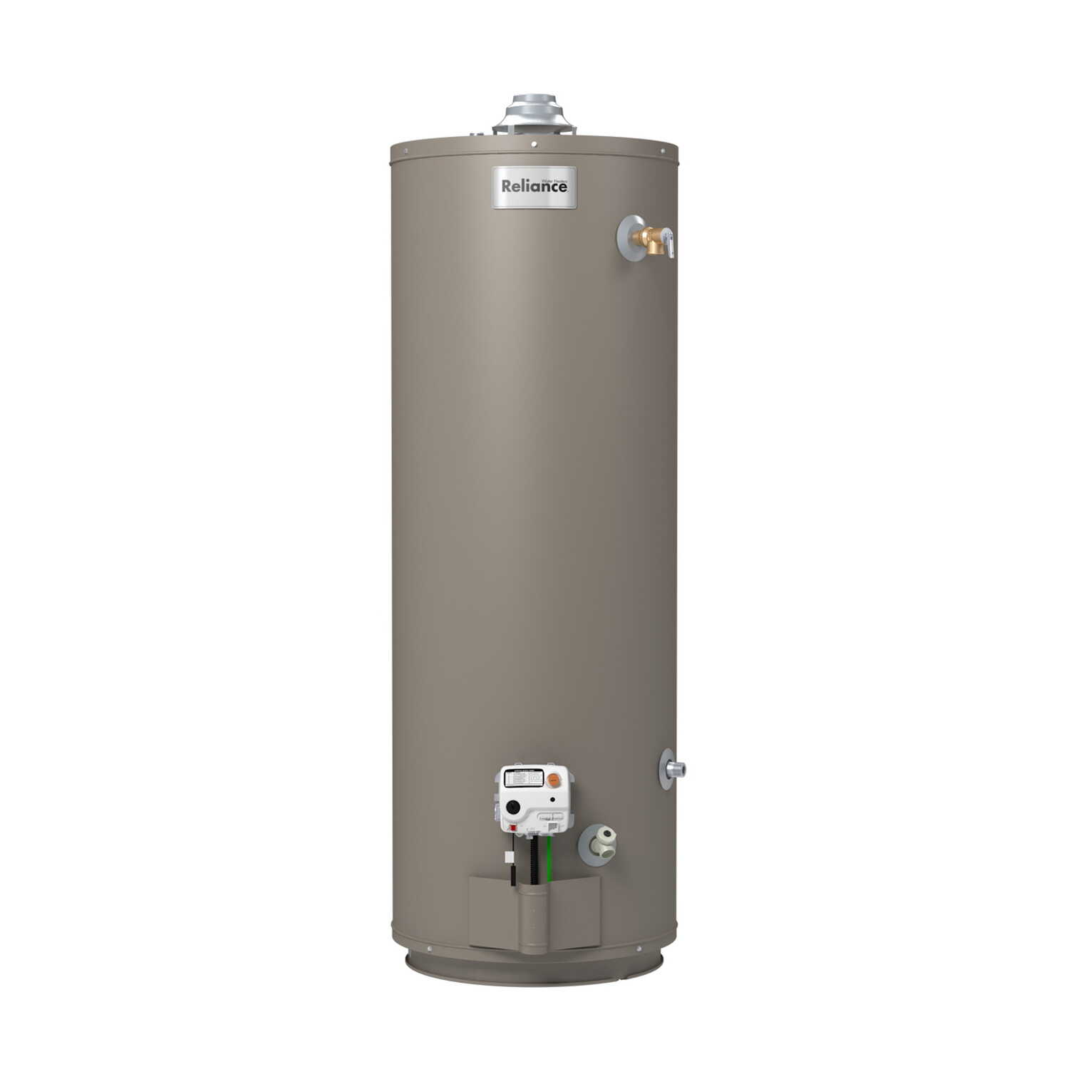 Reliance  Natural Gas/Propane  Mobile Home Water Heater  61-3/4 in. H x 20 in. L x 20 in. W 40 gal.