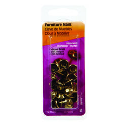 Hillman  No. 9   Antique Brass  Brass  Double Point Tacks  25 pk