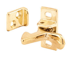 Prime-Line  1.3 in. H x 0.6 in. W x 0.9 in. D Brass-Plated  Aluminum  Elbow Catch