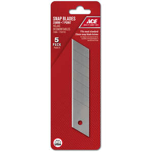 Ace  6 in. L x 0.027 in.  Carbon Steel  Regular Duty  Replacement Blade  5 pk