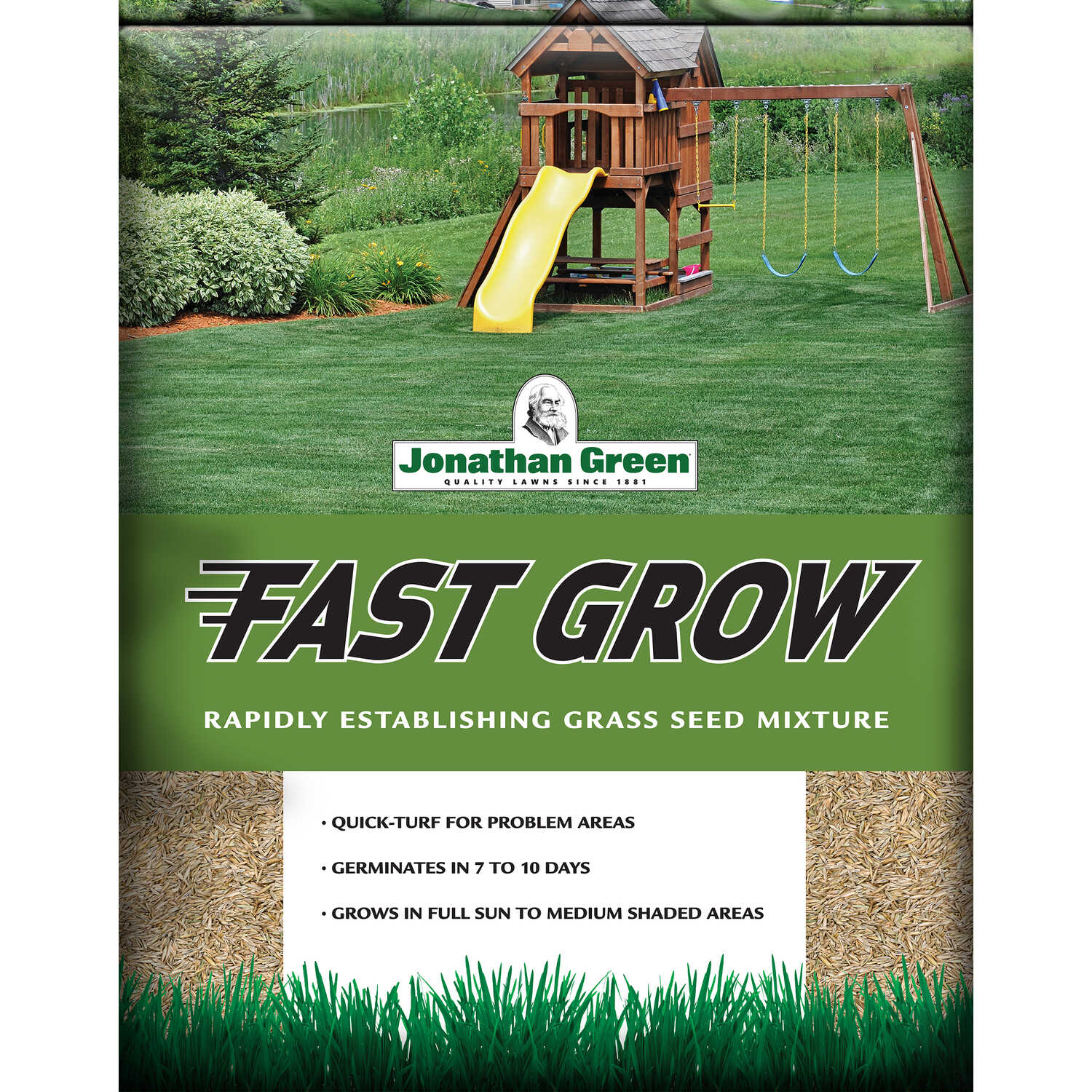 Jonathan Green  Fast Grow  Mixed  Grass Seed  3 lb.