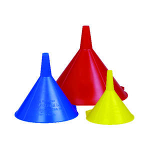 Custom Accessories  Charcoal  Plastic  Assorted  Funnel Set
