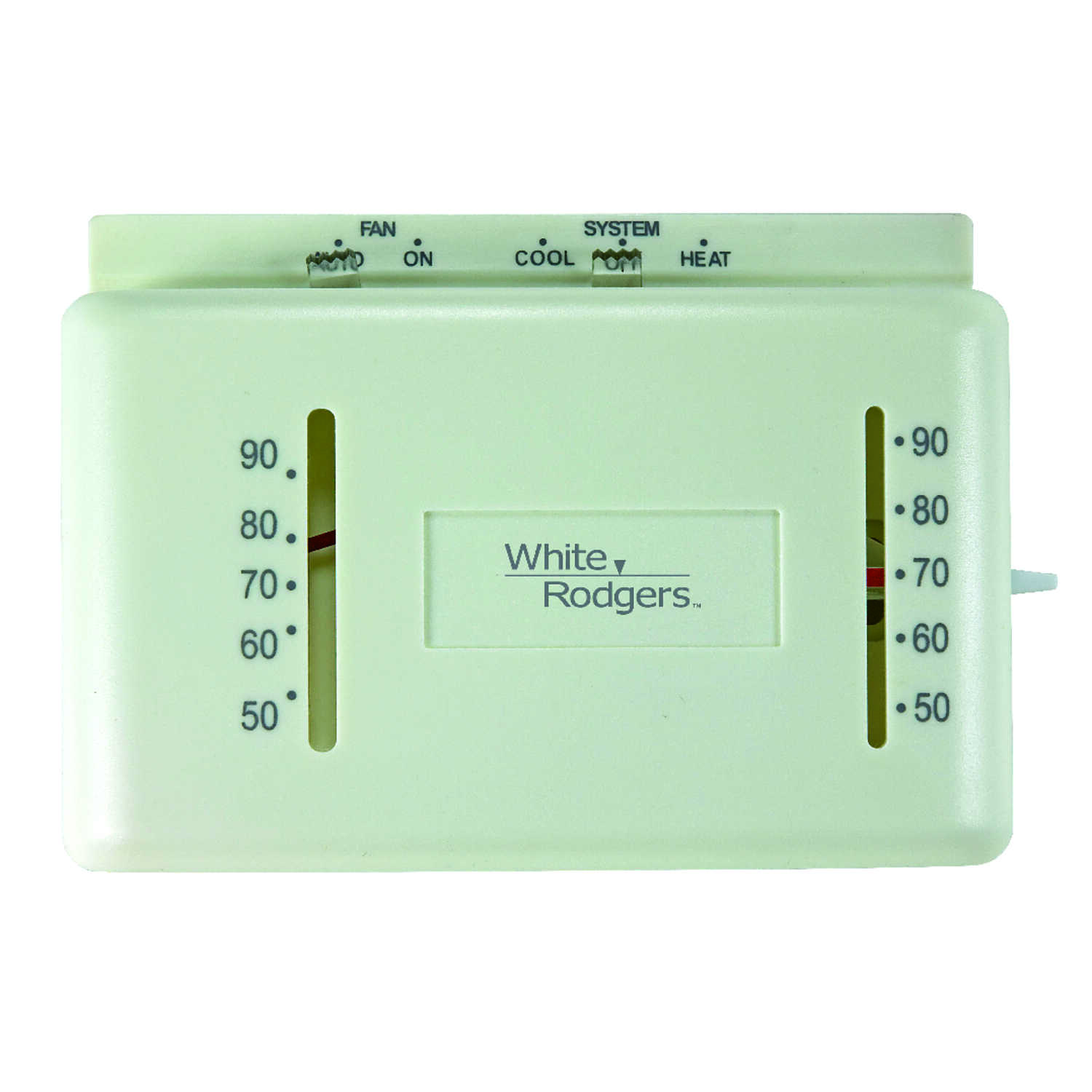 White Rodgers  Heating and Cooling  Lever  Mechanical Thermostat
