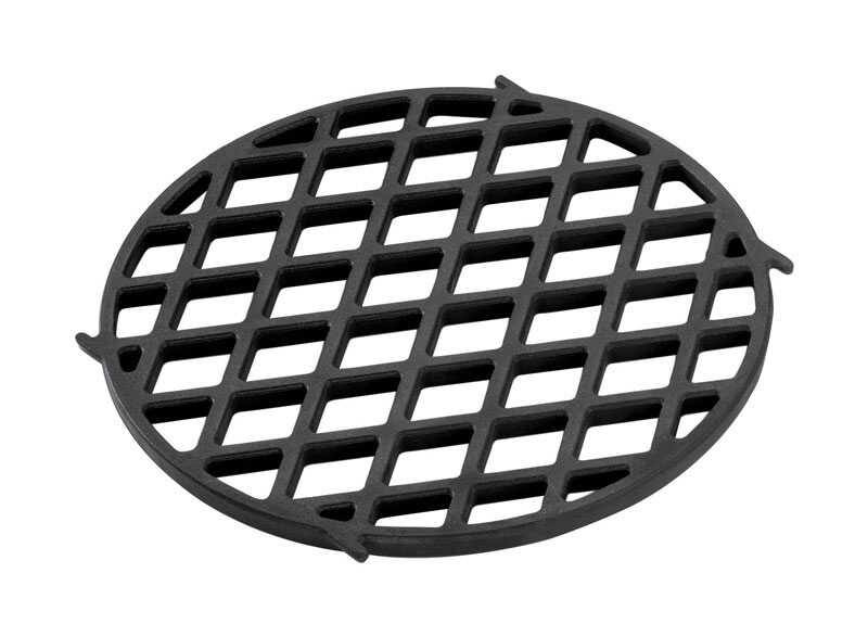 Weber  Gourmet BBQ System  Cast Iron/Porcelain  Grill Searing Grate  0.5 in. H x 11.9 in. W x 11.9 i