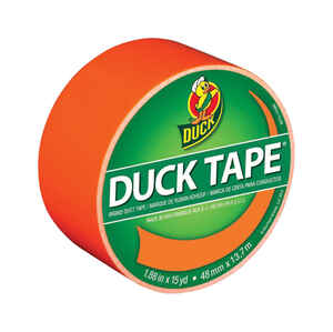 Duck  1.88 in. W x 15 yd. L Neon Oragne  Duct Tape