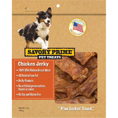 Savory Prime Chicken Jerky Grain Free Treats For Dog 1 each