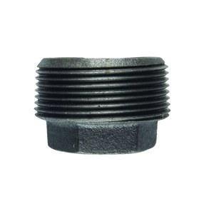 BK Products  1 in. MPT   x 1/2 in. Dia. FPT  Black  Malleable Iron  Hex Bushing