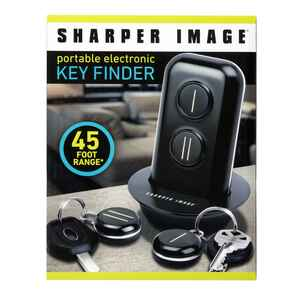 Sharper Image  Metal/Plastic  Key Finder  Black/Silver