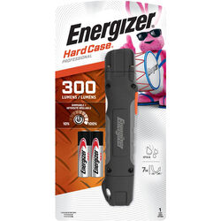 Energizer  HardCase  300 lumens Black  LED  Work Light Flashlight  AA Battery