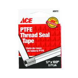 Ace White 100 in. L x 1/2 in. W Thread Seal Tape 0.3 oz.