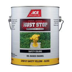 Ace Rust Stop Indoor/Outdoor Gloss Safety Yellow Oil-Based Enamel Rust Preventative Paint 1 g