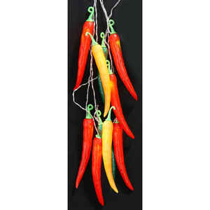 Summer Nights  Incandescent  Multicolored Chili Pepper  Light Set  Clear  8 ft. 10 lights