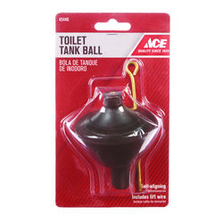 Ace  Toilet Tank Ball  Black  Rubber