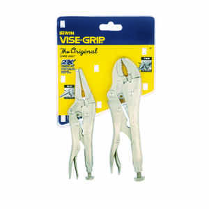 Irwin  Vise-Grip  6 & 7 in. Alloy Steel  Locking Pliers Set  Silver  2 pk