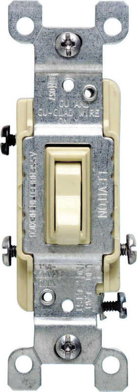 Leviton  15 amps Toggle  Switch  Ivory  1 pk