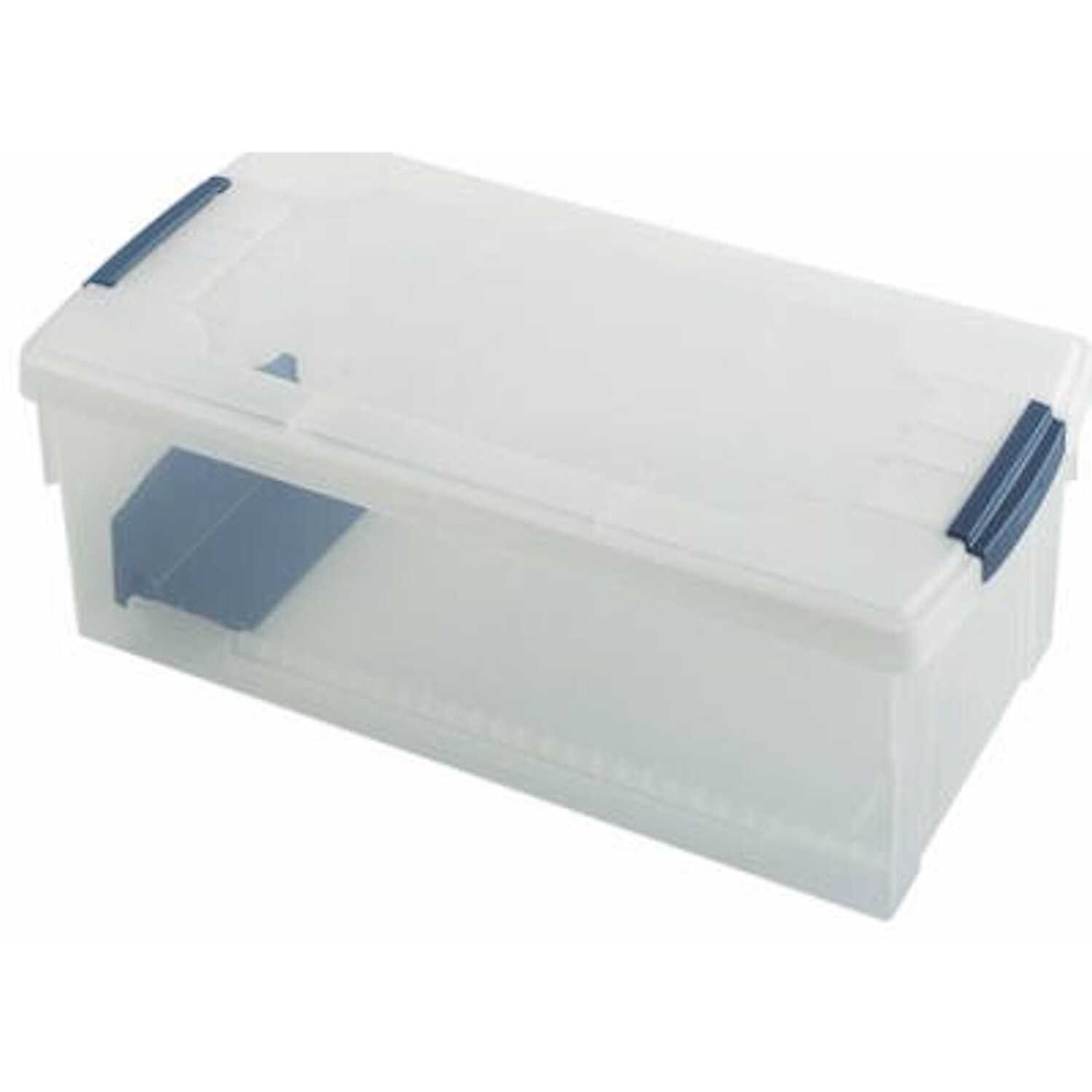 Rubbermaid  Photo and Media  6-3/4 in. H x 9 in. W x 18.3 in. D Stackable Storage Box