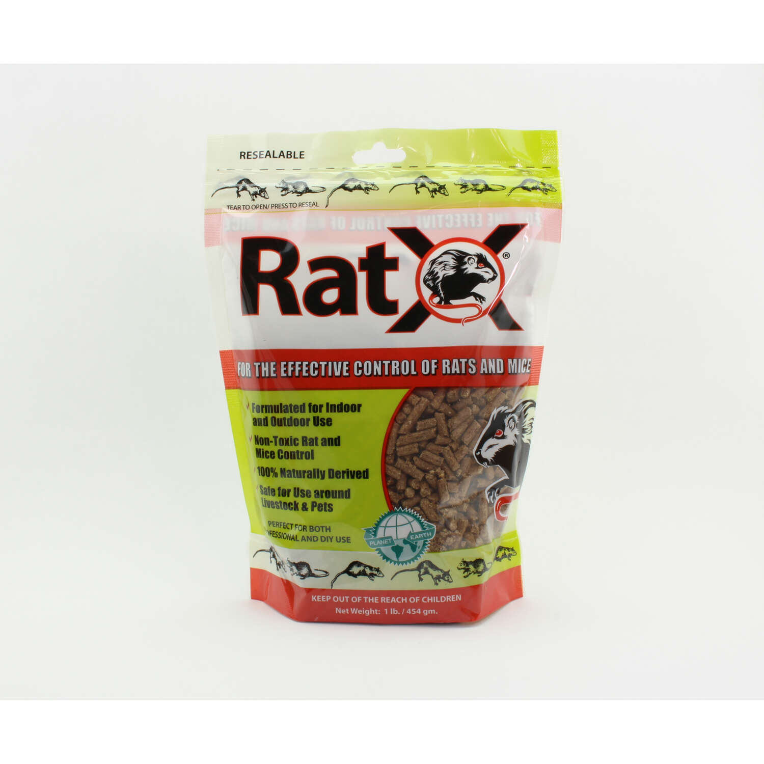 RatX  Non-Toxic  Bait  Pellets  For Mice and Rats 1 lb. 1 pk