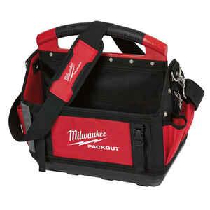 Milwaukee  PACKOUT  11 in. W x 17 in. H Polyester  Tool Tote  31 pocket Black/Red  1 pc.